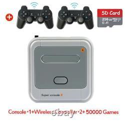 256GB Super Console X Retro Mini WiFi 4K HDMI TV Video Game Console PS1/N64/DC