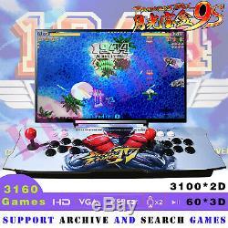 3160 Games with 60 3D Pandora Box 9S Retro Arcade Console Machine Double Sticks