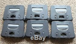 6 Nintendo 64 N64 Console Systems AUTHENTIC TESTED NUS-001 USA GAMING RETRO LOT