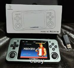 Anbernic RG351M METAL (UK) System Retro Game Console (WHITE) +128GB 30k Games