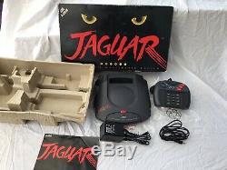 Atari Jaguar Black Console With 8 Games Boxed Retro Console