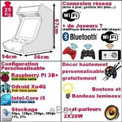 Borne Arcade Bartop Jeu Video Retro Gaming Neuf Garantie Personnalisable