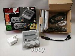 Boxed Super Nintendo SNES Classic Mini Bundle Retro Games & Extras