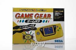 Brand New Retro Sega Game Gear Console Yellow NIB MINT