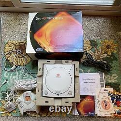CIB Complete in Original Box Sega Dreamcast White Console Bundle Lot Games Retro