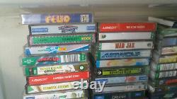 COLLECTION 70 RETRO ATARI 400/ 800 CASSETTE GAMES FOR 800 XL console Untested