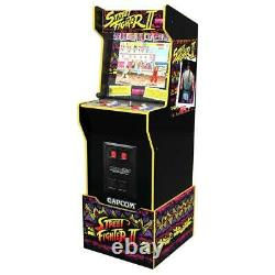 Capcom Legacy Retro Arcade 1UP Cabinet Machine 12 Games In 1 Arcade1UP Riser NEW