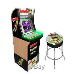 Frogger Retro Arcade1UP Home Cabinet Machine Arcade 1UP Riser 3 Game Stool Combo