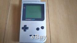 Game Boy Gameboy GB Light Silver Console Nintendo working games retro