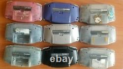 Gameboy Advance Lot of 9 Junk for parts GBA Nintendo console retro game FS JP