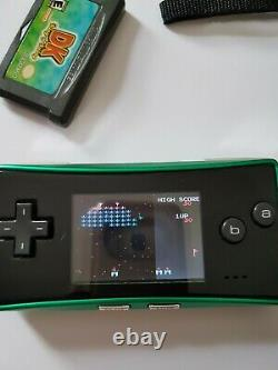 Gameboy micro Nintendo Green bundle with games retro console handheld