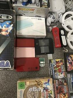 Job Lot Retro Consoles And Games, Nintendo Wii U, Wii, Gamecube, Megadrive Etc