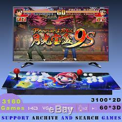 Metal 3160 Games Pandora Box 9S Double Sticks Retro Arcade Console Machine 60 3D