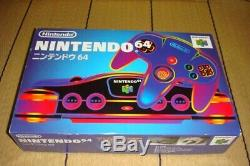 NEW Nintendo 64 Console Black Original console in 1996 Japan model Retro Game