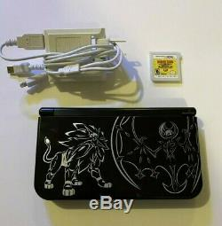New Nintendo 3DS XL Solgaleo with 4000+ games ULTIMATE RETRO SYSTEM BLACK