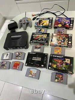 Nintendo 64 Console Bundle With 10 Games N64 in Great Working Condition Retro