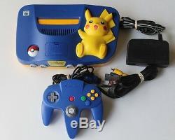 Nintendo 64 N64 Authentic Pokemon Pikachu Game Console Super Rare Retro Kid Lot