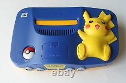 Nintendo 64 N64 Pokemon Pikachu Game Console System Super Rare Retro Kids NES