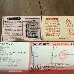 Nintendo GAME&WATCH MICKEY&DONALD Disney Multi Screen Japan Retro Game Boxed