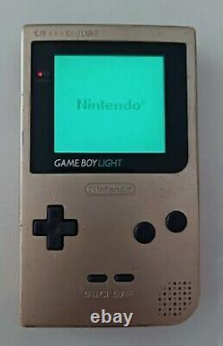 Nintendo Game Boy Light Console TESTED Good Operations! Retro Games Gold GB GBL