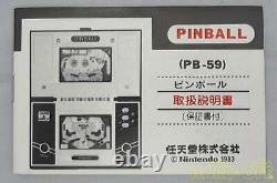 Nintendo Game Watch 3939116 Pinball Pb-59 Retro Games