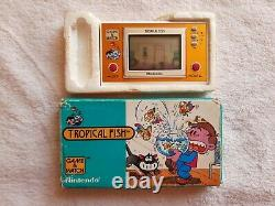 Nintendo Game & Watch Tropical Fish Boxed Inserts Rare Retro Vintage 1980 TF-104