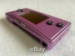 Nintendo GameBoy Micro Purple Japan retro video game console Handheld FedEx