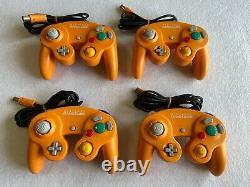 Nintendo Gamecube Orange Japan retro video game console 4 pcs controllers