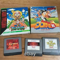 Nintendo Virtual Boy System Console Japanese Retro Game Tested Working + 5 games