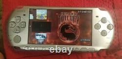 PSP 3000 silver with free 32GB Memory Card 50 psp Games! And 3000 retro games