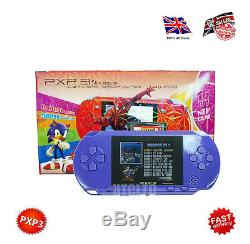 PXP3 HANDHELD 16 BIT DIGITAL RETRO GAME SYSTEM WITH 2.7 Inch TFT SCREEN (Blue)