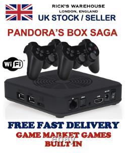 Pandora's Box Saga Wifi Retro Games Console & Wireless Controller Bundle