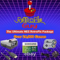 RetroPie Guy Retro Ultimate 256GB Package Raspberry Pi 4 Console Games Cables