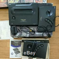 SNK NEOGEO AES Console system with 8 GAMES used Retro free shipping