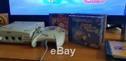 Sega Dreamcast Bundle Boxed. VGC Retro console. 8 Games