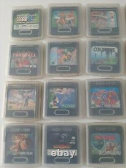 Sega Game Gear Console Plus Huge Games Bundle/case Working Retro Sega-exc Cond