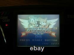 Sega Game Gear Retro Handheld console with repro box Read Description