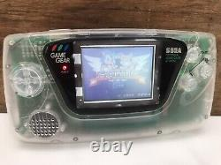 Sega Gamegear Custom Clear Handheld Gaming Console Game Gear Retro Vintage Sonic