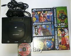 Sega Saturn Console Black and 6 games retro gaming