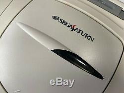 Sega Saturn HST-3220 Japan retro video game console controller video AC cable