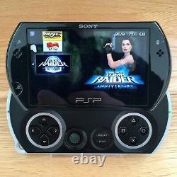 Sony PSP GO Black 16GB Console Games Bundle CFW GBA GBC SNES NES Retro Rare PS1
