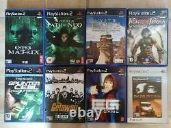 Sony PlayStation 2 console + 28 games bundle CIB huge retro cheap lot PS2 VGC