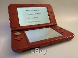TOP IPS NEW Nintendo 3DS XL RED ULTIMATE NINTENDO RETRO SYSTEM 4000+ games