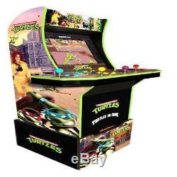 Teenage Mutant Ninja Turtles Arcade1Up Retro Gaming Cabinet Machine with Riser New