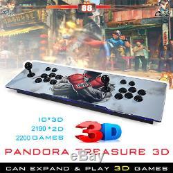 2200 Jeux Pandora Treasure Box 3d + Arcade Console Machine Retro Jeu Vidéo Hdmi
