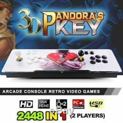 2448 Dans 1 Boîte De Pandore 3d Key 7 Retro 2 Joueurs Jeux Arcade Console De La Machine
