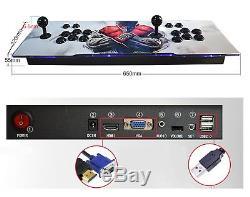 2650 Jeu Pandora Trésor II 3d Retro Arcade Video Console Machine Double Bâton