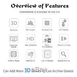 2650 Jeux Pandora Box Sticks Double 3d Retro Jeux Vidéo Console Arcade Machine