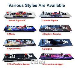 2650 Jeux Pandora II 3d Double Arcade Stick Console Machine Retro Jeu Hdmi