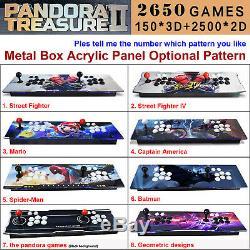 2650 Jeux Pandora Trésor II Bâton Double 3d Retro Arcade Game Console Machin